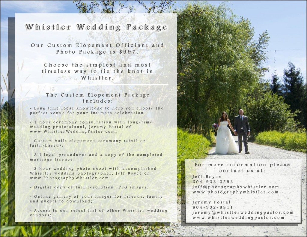 Whistler Wedding Package300