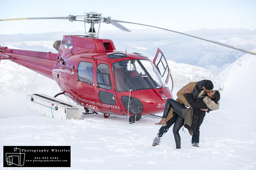 Helicopter Engagement Proposal Whistler